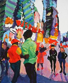 If I Feel Tomorrow Like I Feel Today Urban Life, Pedestrian, Paintings, Artwork, Work Of Art, Painting, Draw, Portrait, Resim