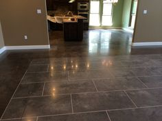 Stained and Scored and Polished Concrete in Morrilton, Arkansas.