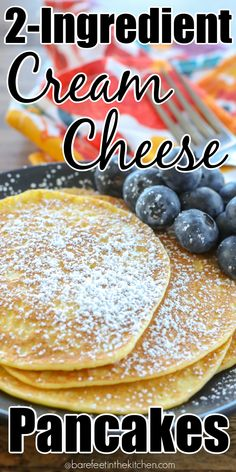 Cream Cheese Pancakes are a low-carb breakfast option that does not disappoint! Diabetic Breakfast Recipes, Low Carb Breakfast, Breakfast Smoothies, Diabetic Recipes, Low Carb Recipes, Real Food Recipes, Cooking Recipes, Yummy Food, Breakfast Ideas