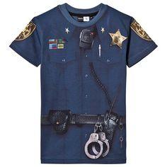 Blue Rokil Police Officer Tee