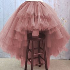 Cheap puffy tulle skirt, Buy Directly from China Suppliers:Asymmetrical High Low Tiered Puffy Tulle Skirts For Women Special Designed Floor Length Long Women Skirt Tutu 2017 Custom Made Puffy Skirt, Puffy Dresses, Fall Dresses, Girly Outfits, Dance Outfits, Skirt Outfits, Tulle Skirt Dress, Tulle Skirts, Prom Dress