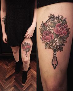 Thighpiece done by Santi Bord (Vonthink Tattoo, Montevideo)