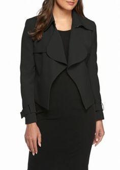 Anne Klein Suit  Ruffle Front Jacket