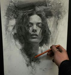 Drawing Portraits - casey baugh More - Discover The Secrets Of Drawing Realistic Pencil Portraits.Let Me Show You How You Too Can Draw Realistic Pencil Portraits With My Truly Step-by-Step Guide. Life Drawing, Figure Drawing, Drawing Sketches, Pencil Drawings, Painting & Drawing, Drawing Models, Sketching, Art Drawings, Charcoal Portraits