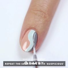 How to DIY a Wavy Manicure with Jinsoon Nail Polish #darbysmart #beautytips #beautyhacks #beautytricks #beautytutorial #beauty #nailpolish #nailart #naildiy #naildesign #nailtutorial