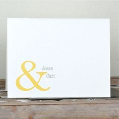 Wedding Thank You Cards / Thank You Cards -Ambersand Personalized Names on Etsy, $18.00