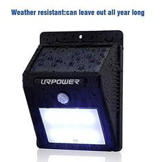 Outdoor Solar Lights 8 LED Wireless Waterproof Motion Sensor Light for Patio