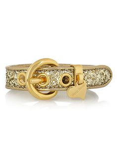 Glitter Finish Leather Bracelet, Miu Miu