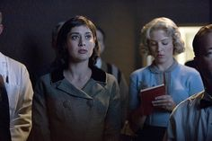 Still of Lizzy Caplan and Helene York in Masters of Sex