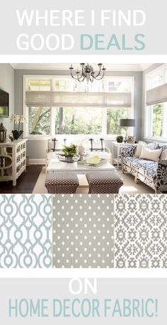 Click thru to find out where you can consistently find stylish, budget friendly home decor fabric!  So glad I found this!