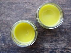 lavender salve cooled, dried lavender , olive oil, bees wax, clean jars, soak, strain, slowly heat to melt wax into oil, allow to cool completely, cover.