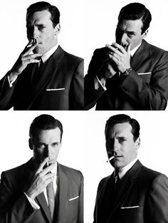 It's unfortunate that smoking looks far cooler than it is.  Then again, Don Draper makes anything look cool. (via G the Gentleman)