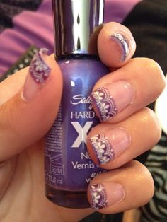 Purple and lace french tips!