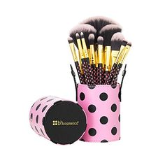 BH Cosmetics Pink-a-Dot Brush Set. For product & price info go to:  https://beautyworld.today/products/bh-cosmetics-pink-a-dot-brush-set/