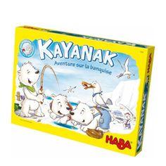 Sur la banquise, les Inuits organisent une partie de pêche. Malgré le froid glacial, ils doivent se nourrir. Tous veulent être le meilleur pêcheur, mais attention aux variations de température, et creuser un trou dans la glace n'est pas toujours évident. Ce jeu de société Kayanak est original et évolutif. En jouant, l'enfant entraîne sa mémoire, son habileté et son sens tactique.