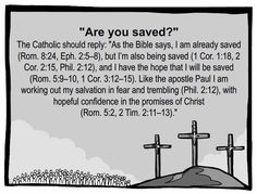 """Orthodox, Catholic, Anglican (And some other Protestants), believe this. Other Christians believe in """"Once Saved, Always Saved"""" which generally includes the """"Sinner's Prayer"""". Catholic Religion, Catholic Quotes, Catholic Prayers, Religious Quotes, Catholic Theology, Orthodox Catholic, Catholic Art, Catholic Answers, Spiritus"""
