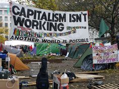 Capitalism Isn't Working - camp looking lived in