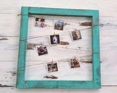 Rustic Wooden Picture Frame with Clothes Pins by RustiqueStudio