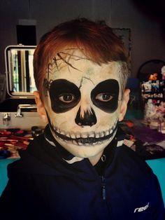 maquillage squelette effrayant