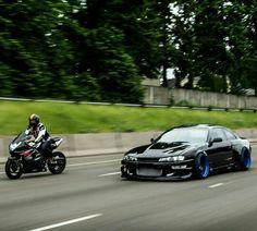 Beautiful Silvia alongside a Nissan Silvia, Tuner Cars, Jdm Cars, Nissan 240sx, Gsxr 1000, Car Mods, Japan Cars, Kawasaki Ninja, Modified Cars