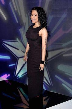 c87c635d185f2 Nicki Minaj Wins Best Female Hip-Hop Artist at BET Awards Photo Nicki Minaj  dons a black little dress while accepting Best Female Hip-Hop Artist  onstage at ...