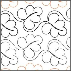 Abundant Leaves quilting pantograph pattern by Lorien Quilting Quilting Stencils, Quilting Templates, Longarm Quilting, Free Motion Quilting, Quilting Tutorials, Quilting Stitch Patterns, Machine Quilting Patterns, Quilt Stitching, Quilt Patterns
