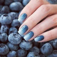 Awesome blueberry blue nails!