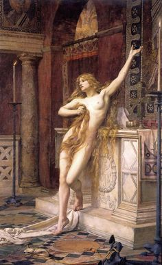 Hypatia by Charles William Mitchell (1885)