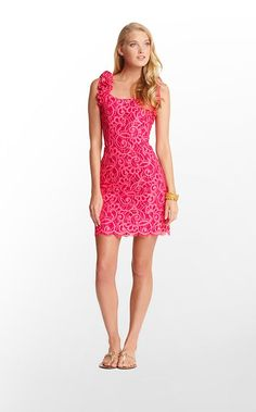 Mara Dress in Passion Pink About Face Lace $268 (w/o 7/29/12) #lillypulitzer #fashion #style