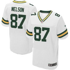 640e5730ac3 All Size Free Shipping Elite Youth Nike Green Bay Packers  87 Jordy Nelson  White NFL