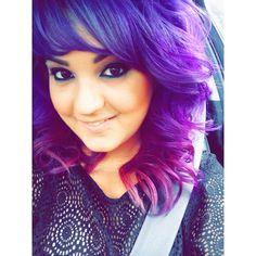 Purple hair. Pravana vivids violet and wild orchid mixed.