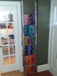 Use an old ladder to store scarves, jewelry, or books...the possibilities are endless.