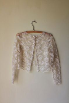 lace bolero rose buttons