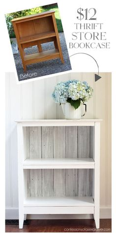 Reclaimed Wood Bookcase from Confessions of a Serial Do-it-Yourselfer