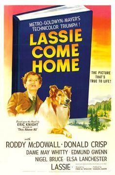 Roddy McDowall , Donald Crisp and Elizabeth Taylor - Lassie Come Home, 1943