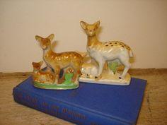 Vintage Porcelain Deer Figurine Japan      j by TotallyVintage, $12.00