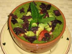 An Alkanizing, Mineralizng, Nutrient Dense Soup    Ingredients    1 young coconut water  1 English Cucumber  1/2 bell pepper  2 celery ribs  1/2 avocado  juice from 1 lime  2 large chard leaves or 4 small  3 green onions  pinch cayenne pepper  small handful of cilantro, mint, rosemary, or any favorite combo of fresh herbs  small handful Dulse seaweed (optional)