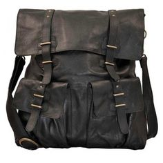Sade Large Leather Bag Black, 171€, One day would love a bag like this...
