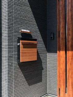 Home Mailboxes, Wall Cladding, Love Photos, Signage, Facade, Entrance, Exterior, Doors, Landscape