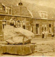 Amersfoortse kei in de Walikerstraat. 1959