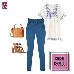 Para un look boho este outfit es ideal. www.paris-jeans.com