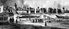 1800 Der Mühlendamm  Seit 1448 befanden sich die Mühlen im Besitz des Landesherrn, verwaltet durch das Kurfürstliche Amt Mühlenhof(heute Neue Münze). Die hier bearbeiteten Erzeugnisse wurden in einfachen hölzernen Buden an Ort und Stelle zum Verkauf angeboten. Das bestehende Stapelrecht beim Umladen der Schiffe auf ihrem Weg zwischen Schlesien und Hamburg führte zur Niederlassung weiterer Händler, was der Stadtkasse wiederum zu guten Einnahmen verhalf. Am Mühlendamm herrschte reges…