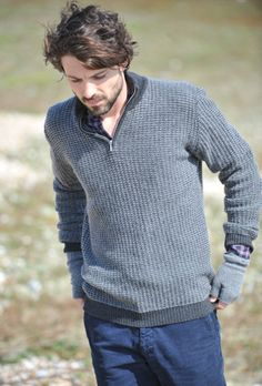Cashmere Two-Tone Zip Turtle Jumper