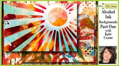 Get GEL PRESS OBSESSED! Kate Crane is back for another two-part video featuring alcohol ink backgrounds on the Gel Press usi. Alcohol Ink Crafts, Alcohol Ink Art, Gel Press, Gelli Plate Printing, Gelli Arts, Art Journal Techniques, Art Background, Linocut Prints, Art Journals