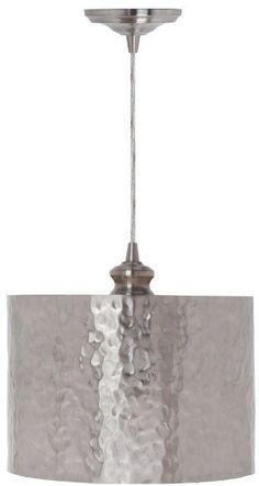 Home Decorators Collection Hammered Brushed Nickel Pendant