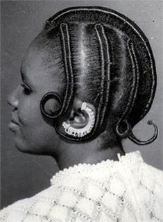 #Nigerian, #Hairstyles  Hairstyle series 1960s-1970s