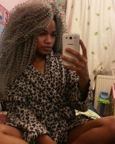 Grey crotchet hair