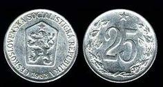 Mince - 25 haléřů Commemorative Coins, Socialism, Old And New, Money, Retro, Memories, Coins, Historia, Nostalgia