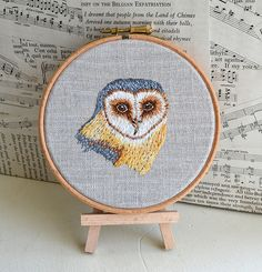 Owl Embroidery by Handmade and Heritage, via Flickr