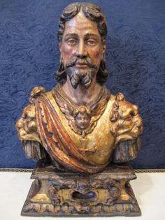 Reliquaire représentant un chevalier de Malte. | Antiquités Arnaud...